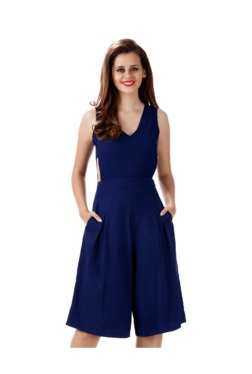 eea66c598092 Miss Chase Navy Sleeveless Jumpsuit