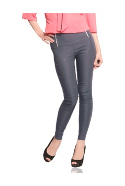 Miss Chase Grey Slim Fit Jeggings