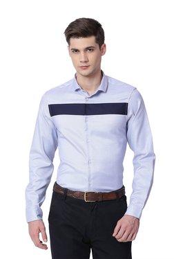 The Bear House Light Blue Cotton Full Sleeves Shirt