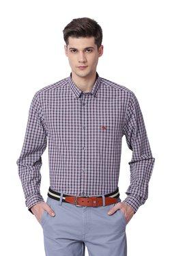 The Bear House Grey Cotton Button Down Collar Shirt