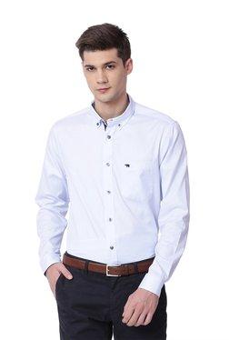 The Bear House Baby Blue Button Down Collar Cotton Shirt