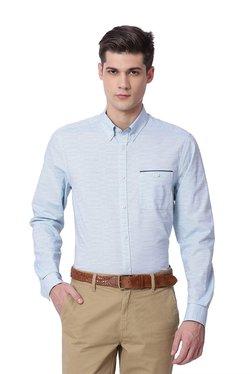 The Bear House Light Blue Cotton Button Down Collar Shirt