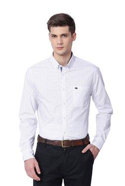 The Bear House White Printed Button Down Collar Shirt