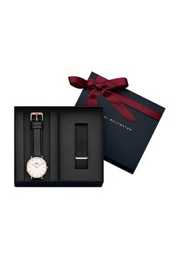 Daniel Wellington DW00500008 Classic Sheffield Analog Watch For Men With Cornwall Nato Strap
