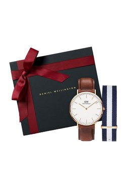 Daniel Wellington DW00500012 Classic St Mawes Analog Watch For Men With Classic Glasgow Nato Strap