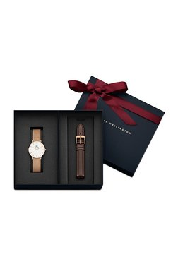 Daniel Wellington DW00500043 Classic Petite Melrose 32Mm Watch & 14Mm Bristol Leather Strap Combo
