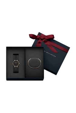 Daniel Wellington DW00500021 Classic Petite Ashfield Women Analog Watch With Rose Gold Cuff Combo