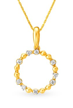 Mia by Tanishq 14 kt Gold & 0.07 ct Diamond Pendant