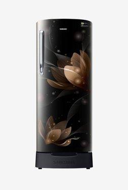 Samsung RR20N182XB8 192 L Inverter 5 Star Direct Cool Single Door Refrigerator (Saffron Black)