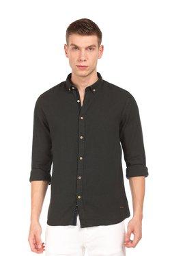 Cherokee Black Button Down Collar Cotton Shirt
