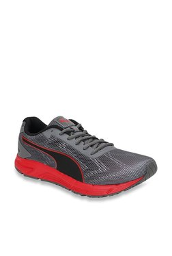 Puma Engine IDP Quarry & High Risk Red Running Shoes