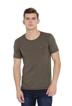Duke Brown Regular Fit Cotton T-Shirt
