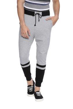 Deezeno Grey & Black Regular Fit Joggers