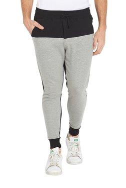 Deezeno Grey Mid Rise Regular Fit Solid Joggers