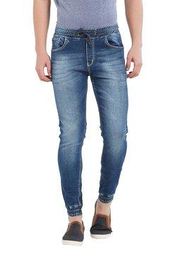 Deezeno Dark Blue Mid Rise Regular Fit Jogger Jeans