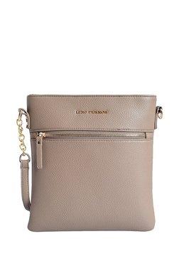 Lino Perros Beige Solid Leather Sling Bag