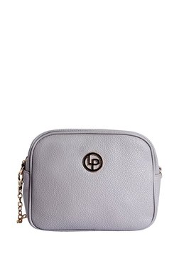 Lino Perros Grey Solid Leather Sling Bag