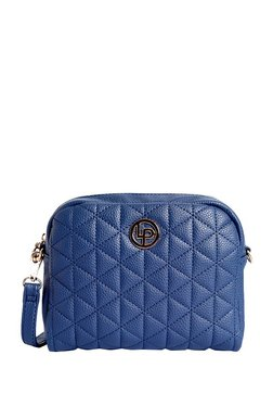 Lino Perros Blue Quilted Leather Sling Bag