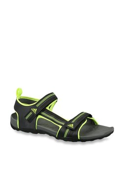 2979bd82b20ac Adidas Galore Path Black   Volt Green Floater Sandals