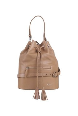 119302fc1cf8 Tohl Rp1 Nusa Beige Tassel Leather Bucket Shoulder Bag