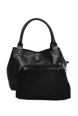 Jennifer Lopez Madison Black Shoulder Bag With Pouch