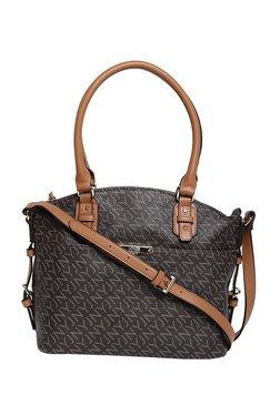 Jones New York Felicity Dark Brown Printed Shoulder Bag