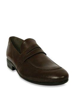 Salt 'n' Pepper Dark Brown Formal Loafers