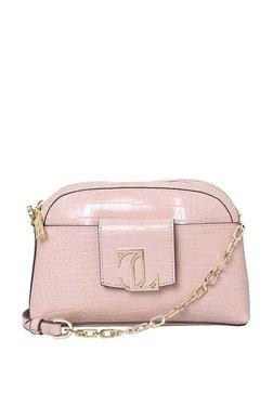 Jennifer Lopez Max Mini Pink Textured Sling Bag