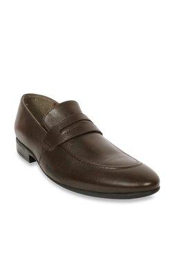 Salt 'n' Pepper Coffee Brown Formal Loafers