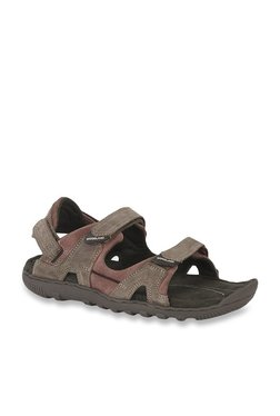 Woodland Brown & Tan Floater Sandals