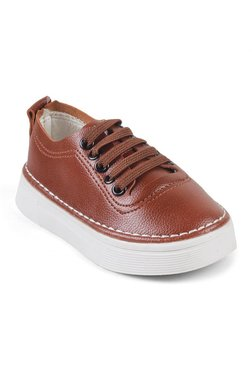 Kittens Kids Brown Synthetic Leather Sneakers