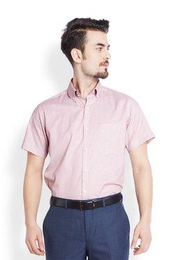 Raymond Red Cotton Half Sleeves Shirt