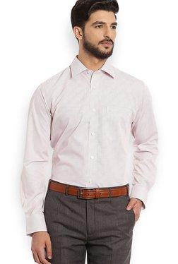 Raymond Baby Pink Striped Cotton Shirt