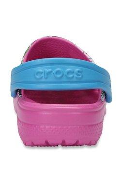 0ddde10d2b588 Crocs Kids Classic Graphic Pink   Sky Blue Back Strap Clogs