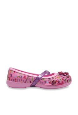c7e5972ccb22 Crocs Lina Pink Mary Jane Belly Shoes for girls in India - Buy at ...