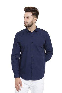 John Players Navy Slim Fit Formal Shirt