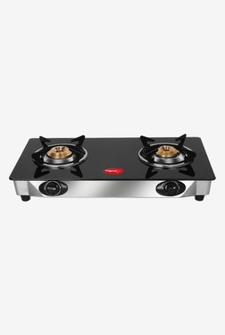 Pigeon Favourite 12042 2 Burner Gas Stove (Black/Silver)