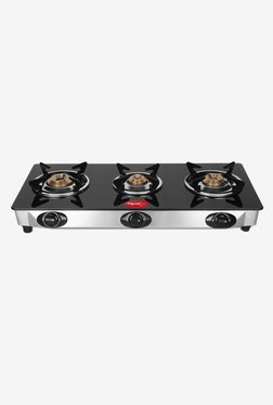Pigeon Favourite 12043 3 Burner Gas Stove (Black/Silver)