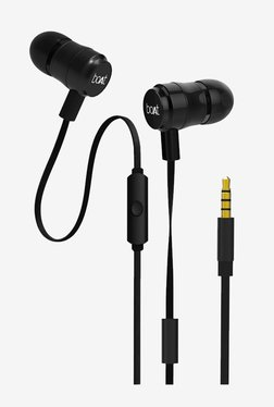 Boat BassHeads 235 Earphones with Mic (Charcoal Black)