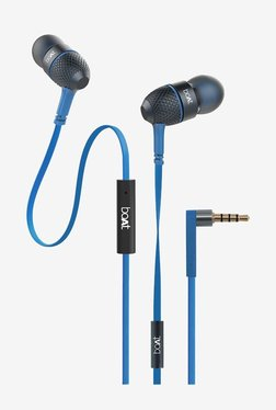 Boat BassHeads 225 Earphones with Mic (Blue)