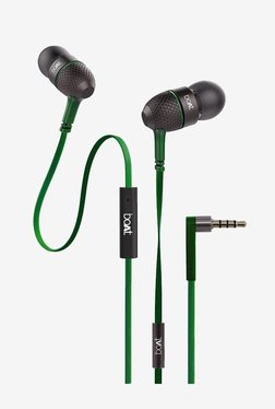 Boat Bass Heads 225 Earphones with Mic (Forest Green)