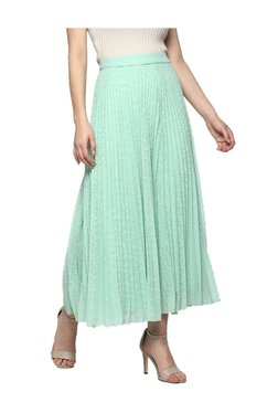 Label Ritu Kumar Mint Self Print Maxi Skirt