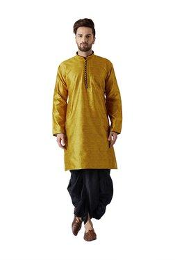 Sojanya Mustard & Black Full Sleeves Kurta Set
