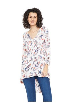 Cottonworld White Floral Print Top - Mp000000003422907