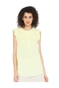 Cottonworld Lime Green Cotton Top