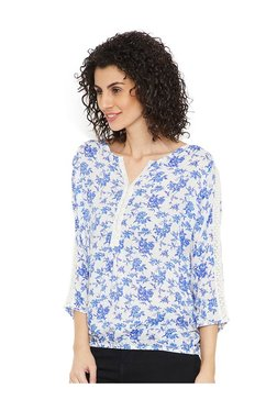 Cottonworld Blue Floral Print Top