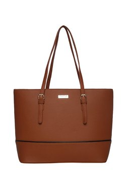 Truffle Collection Brown Solid Shoulder Bag
