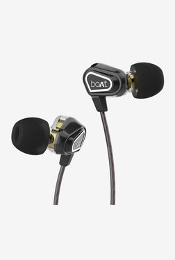 Boat Nirvanaa Duo Dual Drivers Earphones With Mic (Melody Black)