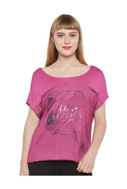 Tom Tailor Pink Printed Cotton Top