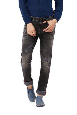 Killer Black Mid Rise Cotton Distressed Jeans
